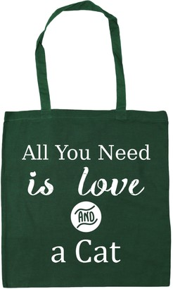 HippoWarehouse All You Need is Love and a Cat Tote Shopping Gym Beach Bag 42cm x38cm 10 litres