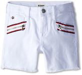 Hudson Kids Spark Shorts in White (Little Kids)