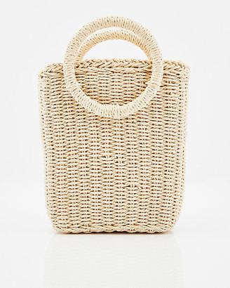Le Château Straw Tote Bag