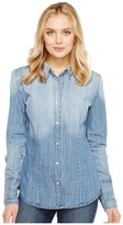 Stetson Ombre Washed Denim Western Shirt Women's Clothing