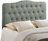 Modway Annabel Full Upholstered Linen Headboard in Gray