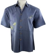 Bamboo Cay - Flying Bamboo, Embroidered Tropical Style Color Men's Shirt