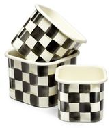 Mackenzie Childs MacKenzie-Childs Courtly Check Square Bowls/Set of 3