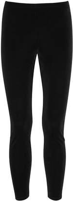 Eileen Fisher Black Stretch-velvet Leggings