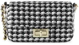 Karl Lagerfeld Paris Mini Agyness Tweed Shoulder Bag