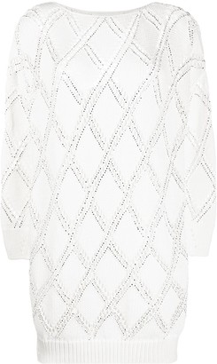 Ermanno Scervino Argyle Sweater Dress
