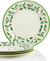Lenox Holiday Melamine Set of 4 Dinner Plates