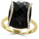Effy Eclipse Diamonds, Onyx and 14K Yellow Gold Ring