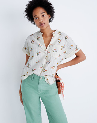 Madewell Bower Popover Shirt in Marseille Daisies