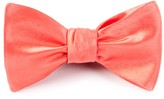 The Tie Bar Coral Solid Satin Bow Tie