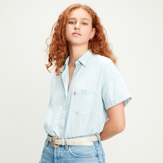 Levi's Linen/Cotton Mix Shirt with Short-Sleeves