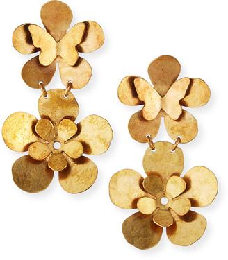 We Dream In Colour Butterfly Garden 2 Earrings, Gold