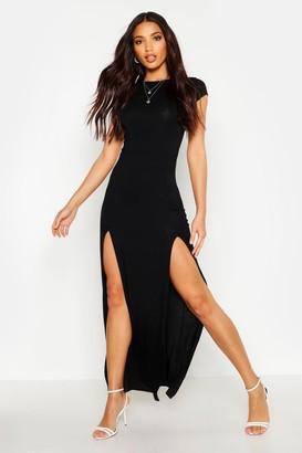 boohoo Front Split Maxi Dress