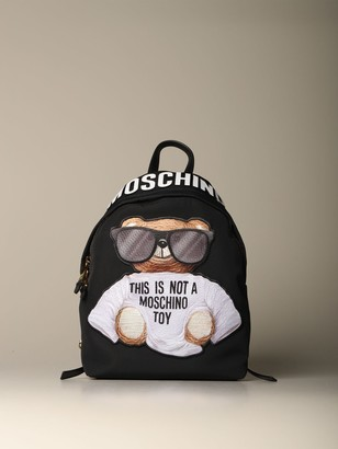 Moschino Nylon Backpack With Teddy