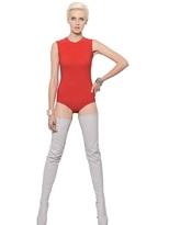 kim kardashian  Who made  Kim Kardashians beige trench coat, tan bodysuit, and nude ankle strap sandals?