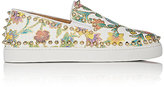 "Christian Louboutin Women's ""Pik Boat Woman Flat"" Slip-On Sneakers"