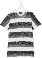 Diesel teen striped T-shirt - kids - Cotton - 14 yrs
