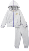 Juicy Couture Light Gray & Gold Hoodie & Sweatpants - Infant Toddler & Girls