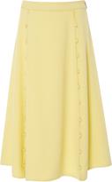 Prabal Gurung Panel Silk Skirt with Button Detail
