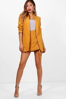 Thumbnail for your product : boohoo Ruched Sleeve Blazer