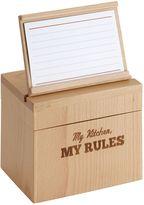 "Cake BossTM ""My Kitchen, My Rules"" Recipe Box"