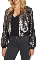 1 STATE 1.STATE Sequin Crop Bomber Jacket
