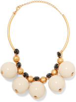 Marni Gold-plated Resin Necklace - White