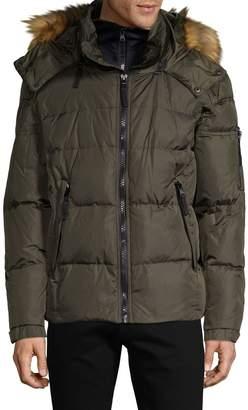 S13 S 13/Nyc Downhilll Matte Faux Fur-Trim Down Puffer Jacket