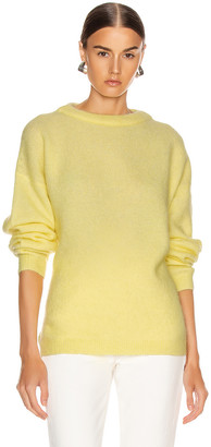 Acne Studios Dramatic Mohair Sweater in Light Yellow | FWRD