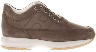 Hogan Brown Suede Interactive Sneakers