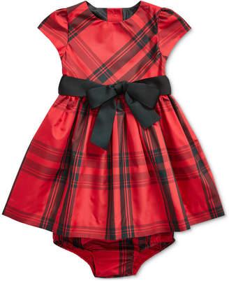 Polo Ralph Lauren Baby Girls Plaid Taffeta Dress & Bloomer