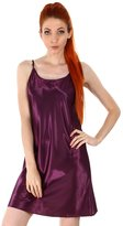 Simplicity Women's Satin Nightgown, Long Camisole Chemise