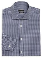 Z Zegna Regular-Fit Checkered Cotton Dress Shirt