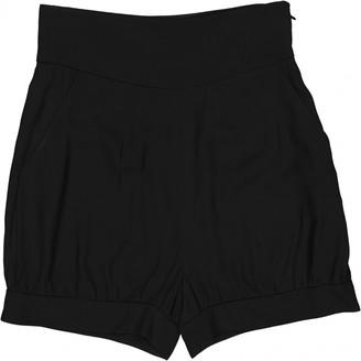 Saint Laurent Black Viscose Shorts
