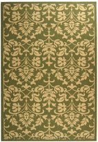 """Safavieh Courtyard Collection CY3416-1E06 Olive and Natural Indoor/ Outdoor Area Rug, 5 feet 3 inches by 7 feet 7 inches (5'3"""" x 7'7"""")"""