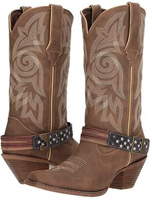 Durango Crush 12 Flag Accessory Strap (Brown/Khaki) Cowboy Boots