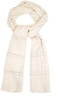 Brunello Cucinelli Windowpane-checked cashmere scarf