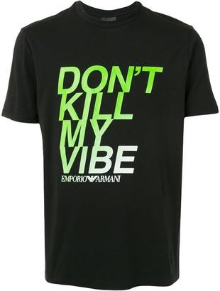 Emporio Armani Don't Kill My Vibe T-shirt