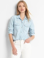 Light denim western shirt