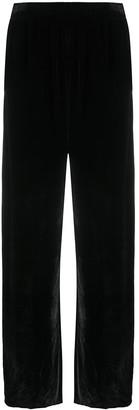 MM6 MAISON MARGIELA Velvet-Effect Flared Trousers