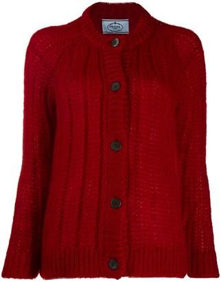 Prada Chunky Knit Cardigan