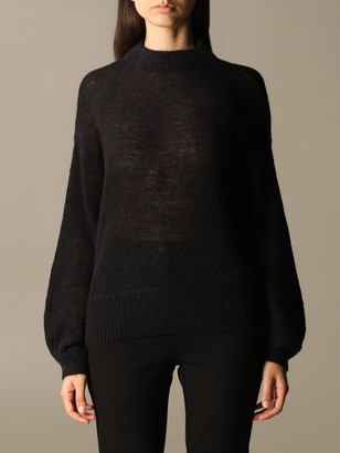 Pinko High Neck Sweater With Back Bow