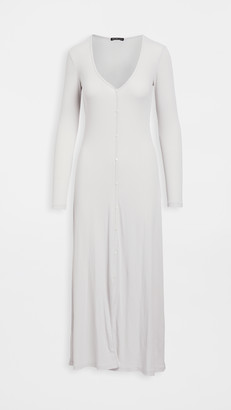 James Perse Ribbed Cardigan Dress