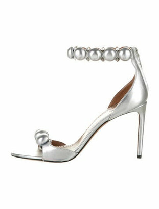Alaia Studded Accents Sandals Silver