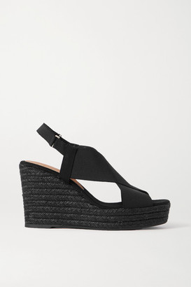 Castaner Federica Canvas Wedge Espadrilles - Black