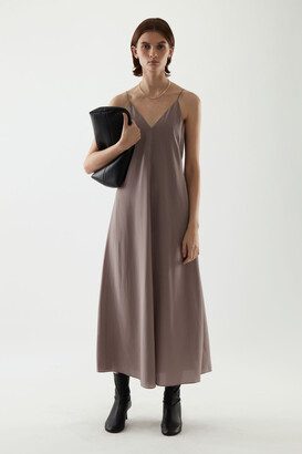 Cos Mulberry Silk Slip Dress