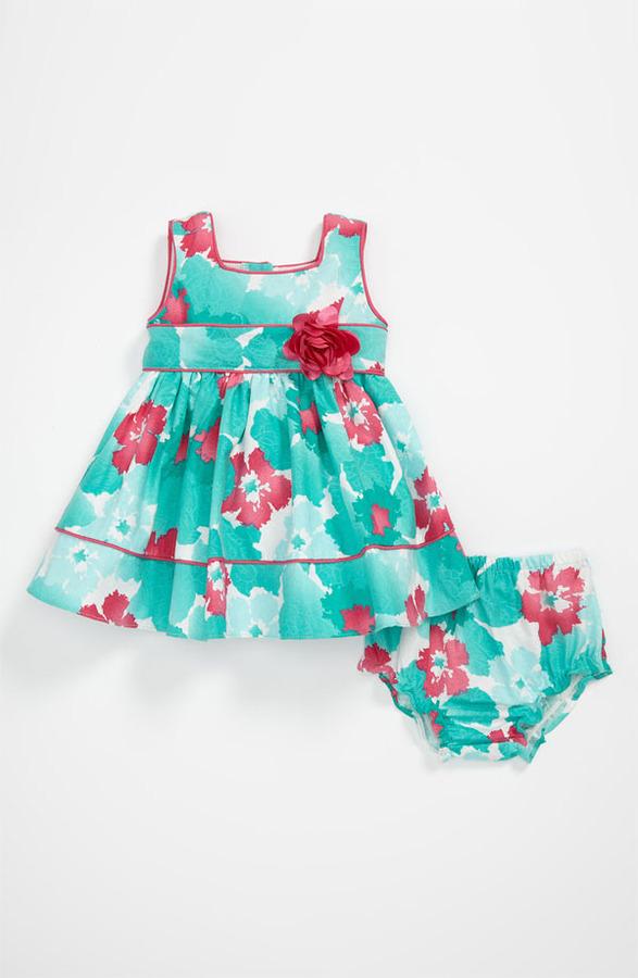 Sweet Heart Rose Floral Dress (Infant)