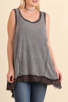 Umgee USA Washed Ribbed Tank