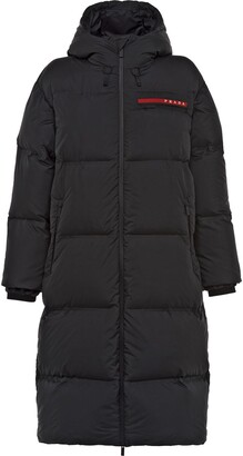 Prada Linea Rossa technical puffer coat