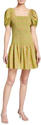 Tanya Taylor Eden Confetti Floral-Print Mini Dress